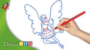 barbie fairy from barbie a fairy secret drawing tutorial youtube