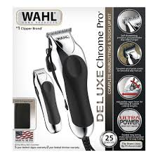 wahl deluxe chromepro 25 pc haircut kit
