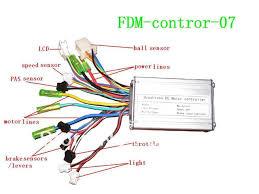 electric bike sine wave controller with sensor lcd display