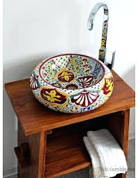 sinks hand painted mexican vessel sinks bathroom small sink