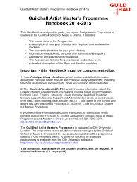 music guildhall artist handbook 2014 15 postgraduate education