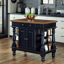 Powell Color Story Black Butcher Block Kitchen Island Home Styles Americana Kitchen Island Hayneedle