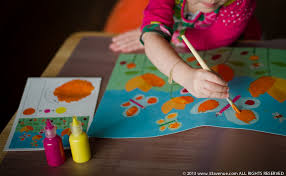 bring the artist out in your child with glitters sand and paint