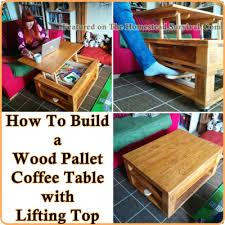 Building A Wood Table Top by Build A Wood Pallet Coffee Table With Lifting Top The Homestead
