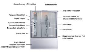 ariel steam shower whirlpool tub 59x32x87 4 da328f3 l ariel platinum steam shower whirlpool bathtub w 14 massage jets 59 x 32