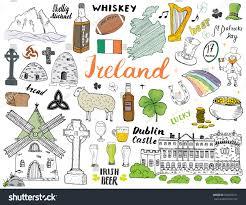 Flag Of Dublin Ireland Ireland Sketch Doodles Hand Drawn Irish Stock Vector 768270721