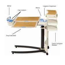 hospital bed tray table hospital bed tables white bed