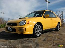 subaru yellow 2003 sonic yellow subaru impreza wrx wagon 1280181 photo 3