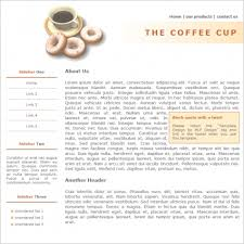 the coffee cup template free website templates in css html js