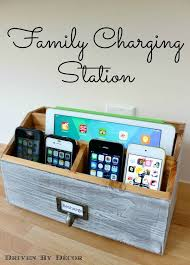20 genius diy phone charging stations clutter cord and create