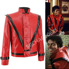 Halloween Costume Leather Jacket Aliexpress Buy Rare Classic Mj Michael Jackson Thriller