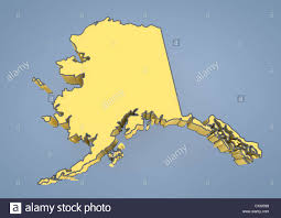 Map Of United States And Alaska by Map Of Alaska Ak Usa United States Of America Contour 3d