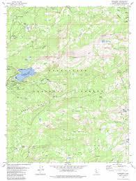 Yosemite Topo Map Pinecrest Topographic Map Ca Usgs Topo Quad 38119b8