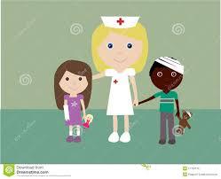 pediatric nurse and 2 injured children stock photos image 11784113
