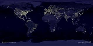 Amherst College Map Files Open Composite Satellite View Of The Earth At Night