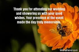 wedding wishes not attending wedding thank you notes