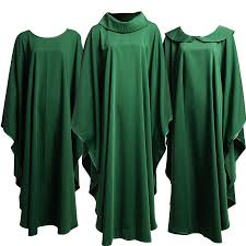 priest halloween costume holy church clergy priests solid green chasuble altar server mass