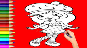strawberry coloring page strawberry cartoon drawing