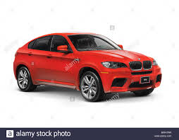 crossover cars bmw red 2011 bmw x6 m crossover isolated car on white background with