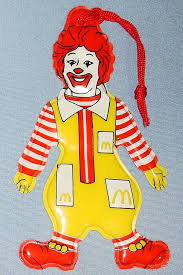 1983 ronald mcdonald flat vinyl tree ornament