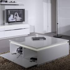 large white square high gloss skylight electra coffee table