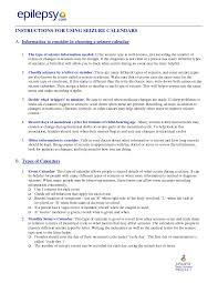 seizure information forms epilepsy foundation