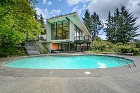 stunning mid century modern home with puget sound view and