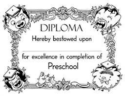preschool diploma grade graduation diplomas education