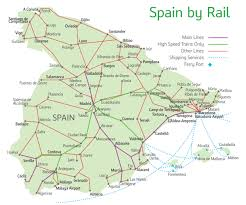 Spain On A Map Spain Train Tickets