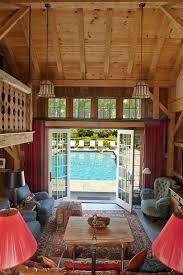 this poolhouse interior looks like a mini house love