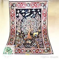 Modern Silk Rugs 2x3ft Modern Silk Carpet Silk Rugs Handmade Silk Rug Turkish View