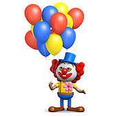 clown baloons clip of 3d clown balloons k19903242 search clipart