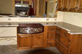 rounded kitchen island med rounded front 2 tone sink copper sinks online