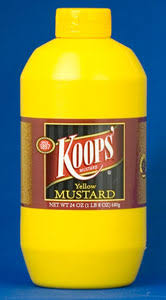 koops mustard made in wisconsin koops yellow mustard national mustard museum