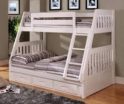 Bunk Bed With Trundle And Drawers Bunk Bed With Trundle Mission Style In White And