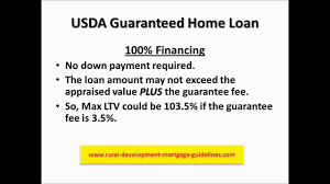Us Dept Of Agriculture Rural Development Usda Guaranteed Home Loan Youtube