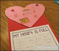 valentines day writing paper crazy for first grade my heart is full a writing freebie to go along with it they wrote about what made their hearts full and why it was special important to them you can download the writing printable freebie