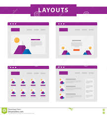 simple free web templates set of simple flat website templates stock vector image 73364207 set of simple flat website templates stock vector