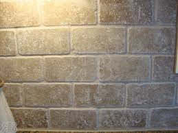 X Tumbled Travertine - Noce travertine tile backsplash