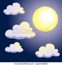 moon and clouds on sky background vector illustration