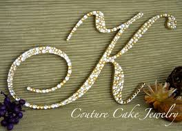 k cake topper cake toppers beverly clark 702326gc design 4inch gold