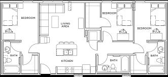 3 bedroom 3 bath floor plans callaway house apartments in
