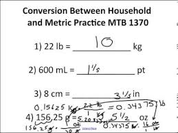 mtb 1370 chapter 4 worksheet answers converting between metric