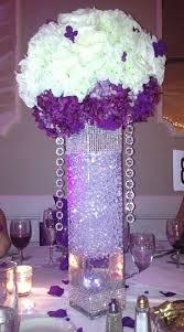 purple and silver bling center pieces purple centerpiece create