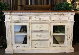 large habersham style sideboard buffet painted a distressed white