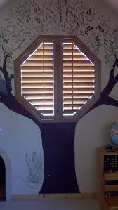 unique octagon window blinds