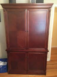 Wood Computer Armoire Solid Wood Computer Armoire Cherry Finish Pensacola Fishing Forum