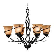 Colored Chandelier Buy 6 Bulb Chandelier In Bronze Colored Finishes