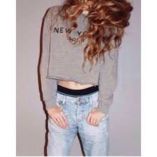 out brandy melville gray nancy new york soho crop sweatshirt os nwt