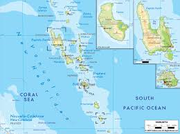 Physical Map Of Australia Maps Of Vanuatu Map Library Maps Of The World